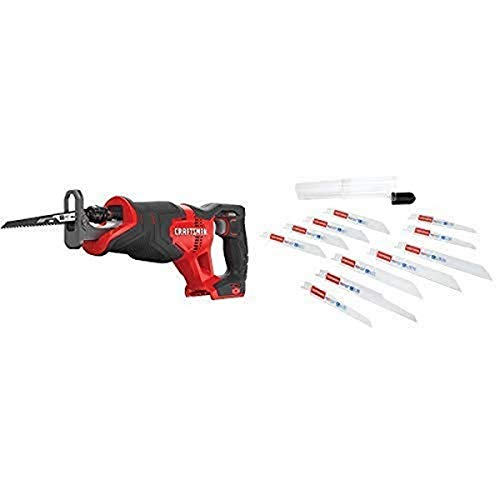 CRAFTSMAN V20 Reciprocating Saw, Cordless, Tool Only with Reciprocating Saw...