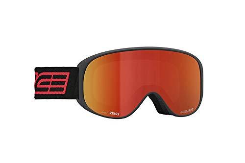 Salice 100DARWF skibril SR zwart dubbel antifog regenboog rood unisex volwassenen beschrijving Montatat: zwart, UNICA