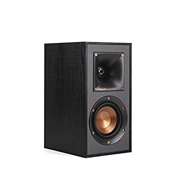 Klipsch R-41M Powerful Detailed Bookshelf Home Speaker Set of 2 Black  Renewed