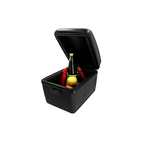 FISCHER Isolierte Gepäckträgerbox | hält warm und kalt | 16L Fassungsvermögen | leichte Montage und Demontage am Gepäckträger