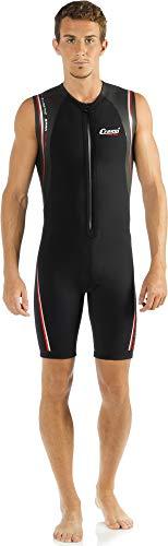 Cressi Men's Termico Wetsuit 2mm Shorty Neoprenanzug aus High Stretch Neopren für Herren, Schwarz/Rot, XXXX/L8