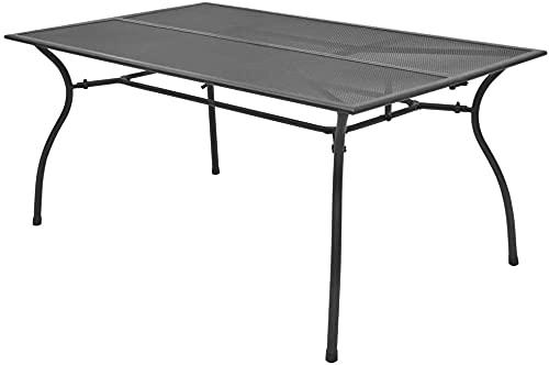Garten Esstisch Stretch Metallgartentisch Gartenmöbel Tisch Balkon Tisch Terrasse Tisch Esstisch innen draußen 150x90x72cm