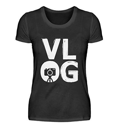 VLOG – Cámara digital Nomade Video Internet Blogging Influencer regalo – Camiseta para mujer Negro XXL