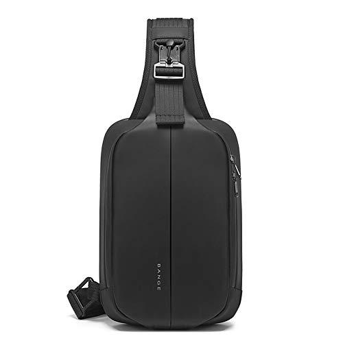 OZUKO Casual Sling Bag , Bolso de Pecho Hombre Antirrobo Impermeable Bandoleras Cruzada para Ciclismo, Senderismo, Viaje, Deportes