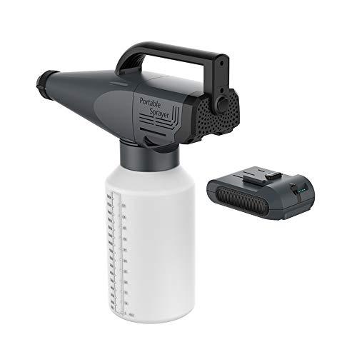 Fogger ULV electrostático portátil, Fogger inalámbrico ULV 1.8L eléctrico, Pistola pulverizadora eléctrica HVLP con batería, para desinfección de interiores y automóviles, insecticida de jardí