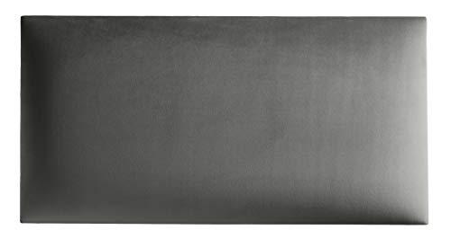 Mocadu Wandpaneel - Wandverkleidung Samt mit 50 mm Polsterung - inkl. Befestigung - 3D Rechteck Wandkissen - Wanddeko - Wandpolster - Dekoration modern | 60 x 30 (Hellgrau RV91)