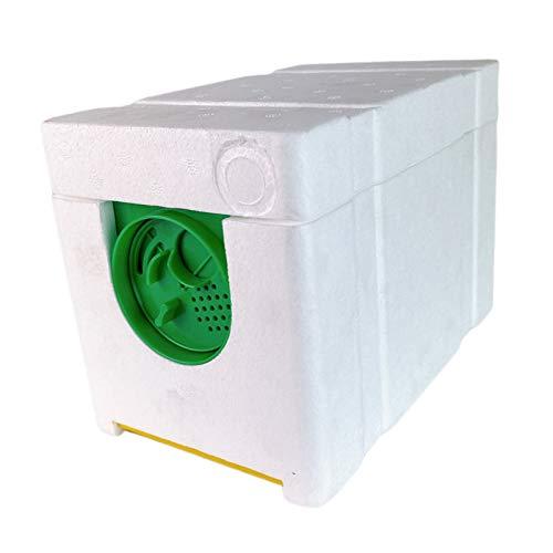 kowaku Caja de colmena de polinización de cosecha Nuc, instalación sencilla, ligera y compacta