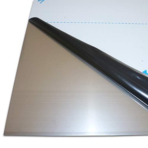 B&T Metall Edelstahl V2A Blech-Zuschnitt blank gewalzt, foliert | 1,0mm stark | Größe 10 x 70 cm (100 x 700 mm)