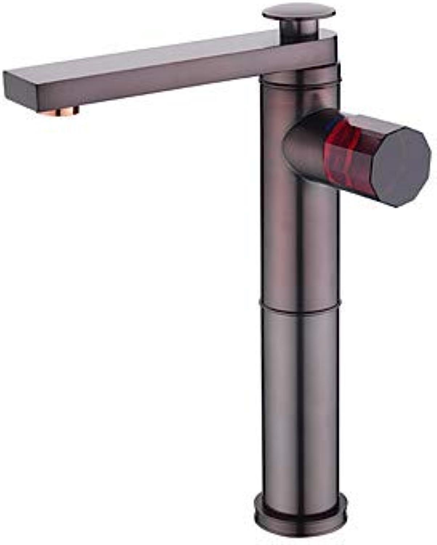 Waschbecken Wasserhahn - Verbreitete Neues Design l-riebe Bronze deckenmontiert Einhand Ein Loch A