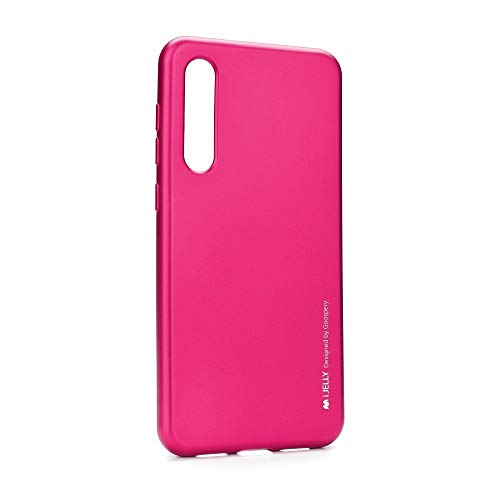 Jelly Case - Carcasa de Gel TPU de Color Metalizado Funda Protectora para Xiaomi Mi 9 SE - Rosa Fuerte