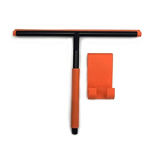 SMX Douche wisserzuigslang Cup Haak Stainless Steel Core - Silicone Rubber Squeegees for badkamer schoonmaken venster scherm Wiper Cleaner (Color : Orange)