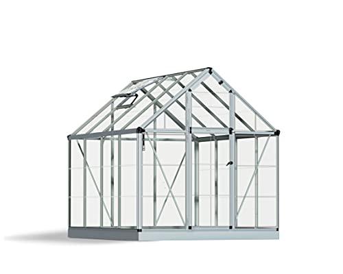 Palram HG6008 Snap & Grow Hobby Greenhouse, 6' x 8' x 7', Silver