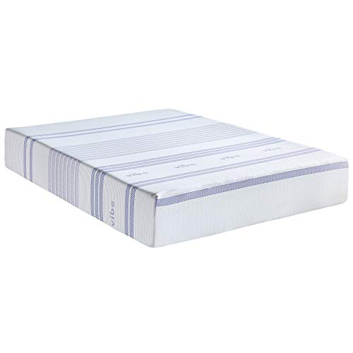 Vibe 12-Inch Gel Memory Foam Mattress | Bed in a Box, [Mattress Only], Queen