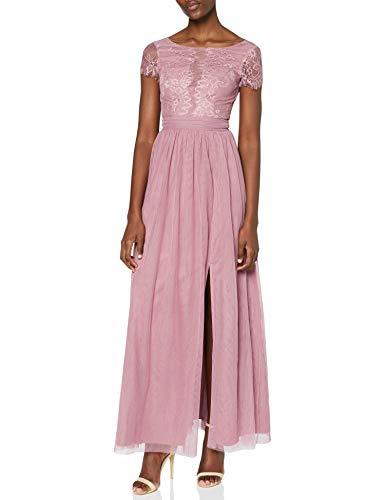 Little Mistress Damen Kleid Rose Lace Maxi, Pink (Canyon 001), Gr. 34 (6 UK)