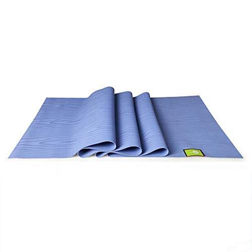 YDXW Draagbare opvouwbare yogamat, natuurrubber tapijtmat, ultradunne antislip reis-yogamat, pilates, oefeningen, work out-mat, hoge grip, milieuvriendelijke machinewasbaar