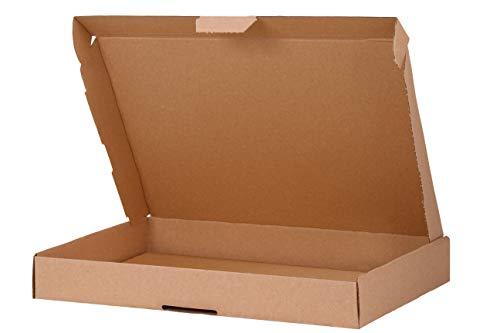 A&G-heute 200 Stück Maxibriefkartons Braun 350 x 250 x 50 mm Maxibriefkarton DIN A4 Kartons Faltkarton Postkarton