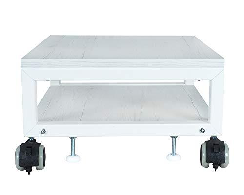 NEUN WELTEN Carrello per Stampante Supporti sotto Il Tavolo 40 x 40 x 22,5 cm (L x L x A), Mobili Tavolino Basso in Legno a 2 Piani (Model 1)