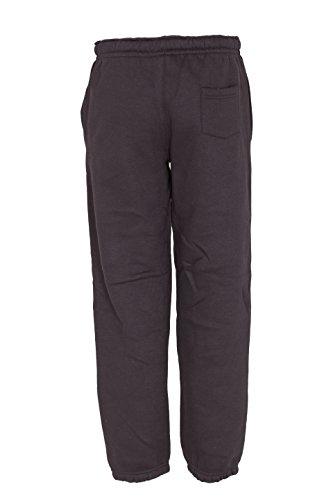 NOROZE Kids Boys Girls Plain Tracksuit Hooded Jogging Suit (Black, 9-10 Years)