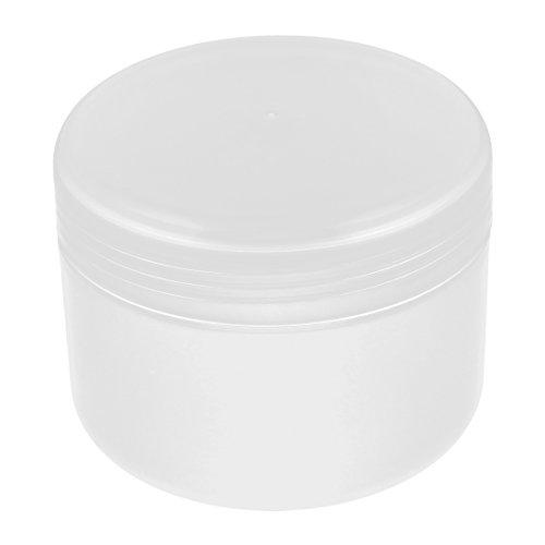 sourcingmap Plastique produits de beauté Vide Pot Crème Visage Peau Lotion Récipient 250g Transparent