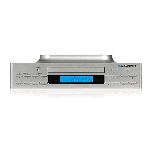 Blaupunkt Küchenradio KRC 40 SV, PLL-UKW-Radio, Bluetooth, Aux-In, CD-Wiedergabe, Hintergrundbeleuchtetes LC-Display, Integriertes LED-Licht zur Ausleuchtung der Arbeitsfläche,2 Kurzzeitwecker