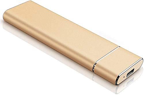 Disco duro externo externo portátil de 1 TB y 2 TB para PC, Laptop y Mac-2TB, dorado