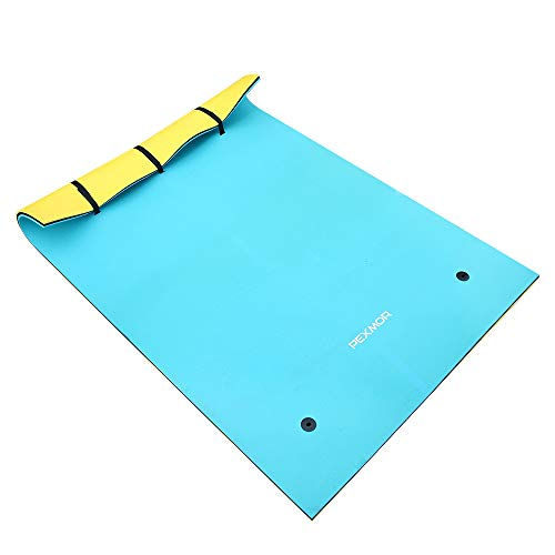 PEXMOR Floating Mat Foam Pad 9FT X 6FT Water Recreation and Relaxing for Pool Beach Lake River Water Floating Mat with DIY Head Pillow for Adults and Kids