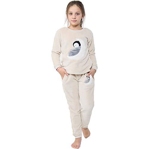 A2Z 4 Kids Kinder Mädchen Jungen Pyjama Extra Weich Loungewear - PJS 178 Penguin 11-12