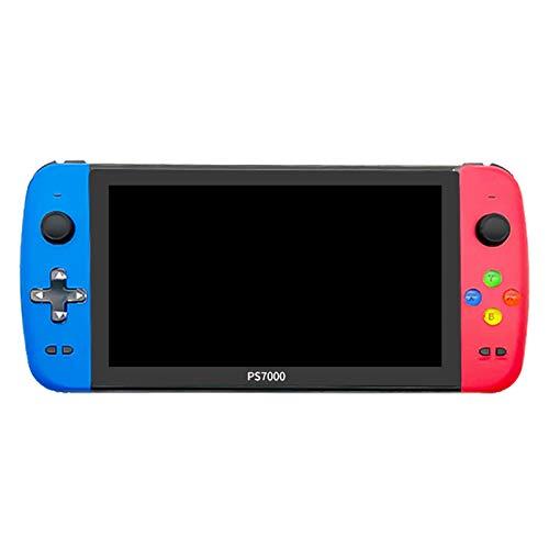 SNOWINSPRING Consola de Videojuegos PS7000 Pantalla LCD HD de Cuatro NúCleos de 7 Pulgadas 4000+ Juegos Consola de Juegos Retro Reproductor de Juegos PortáTil de Mano