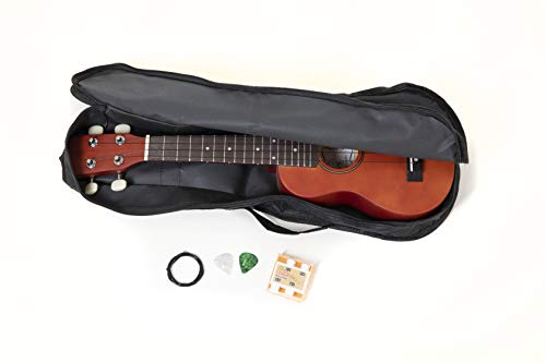 PURE GEWA TENSON F502820 Miguel Almeria Ukulele Player Pack inkl. Online Lesson Kurs, rotbraun