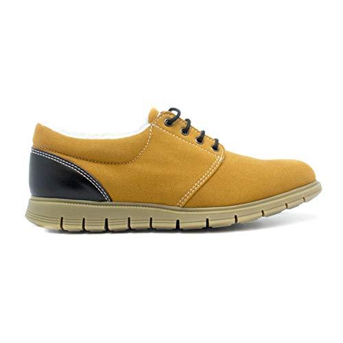 NAE Marjuk - Zapatos Veganos Hombre Derby Goma Antideslizante Dentada Forro Cálido Confort Térmico Plantilla Flexible Cordones Caña Baja Punta Redonda
