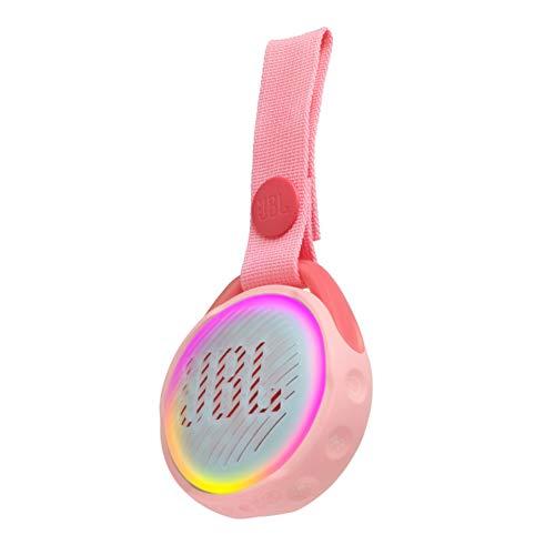 JR POP JBL - Enceinte portable pour enfants - Bluetooth & Waterproof - Avec modes lumineux multicolores & autocollants - Autonomie 5 hrs - Rose
