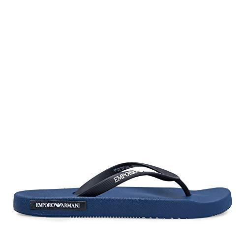 Emporio Armani Herren Badesandalen - Flip Flops (Blau, Numeric_45)