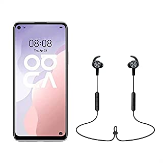 Huawei Nova 7SE Dual SIM Mobile - 6.5 Inches, 128 GB, 8 GB RAM, 4G LTE - Space Silver with Freelace Sports Wireless Earphones