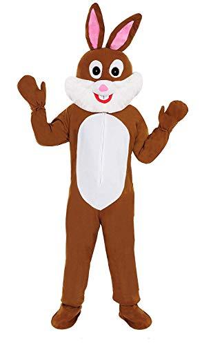 Hase braun Einheitsgrösse L-XL Kostüm für Fasching Karneval Ostern Osterhase