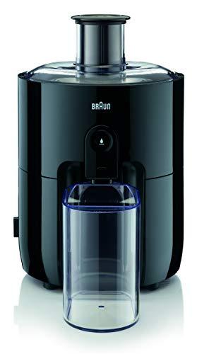 Braun PurEase SJ 3100 BK - Juicer per succhi fatti in casa, grande vano di riempimento per frutta intera, con tecnologia ColdXtract per mantenere le vitamine, 500 Watt, colore: Nero
