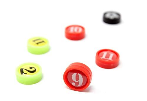 WISEPLAYERFC Magnete für Taktiktafel Fußball-26 Stück Fußballspielermagnete 1,4 Zentimeter im Durchmesser mit Tasche
