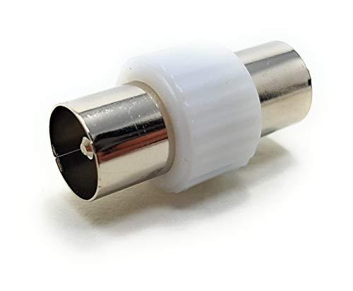 MainCore - Cable de antena de TV macho a macho RF coaxial de conector adaptador de enchufe