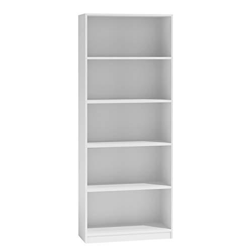 Mirjan24 Standregal Harvard, Bücherregal mit 5 Fächer, Aktenregal Universal Regal Schranke (Weiß, R60)