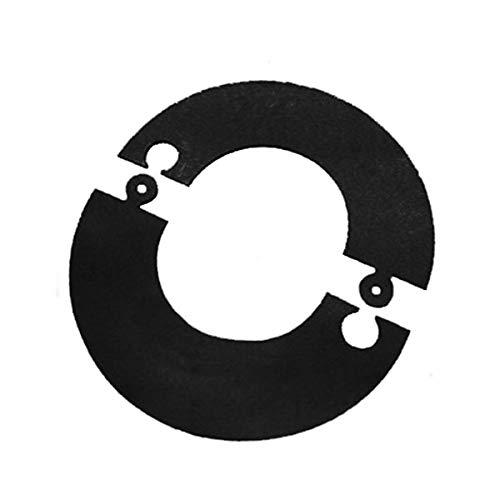 Rosone componibile verniciato nero canna fumaria D. 80 mm stufa pellet