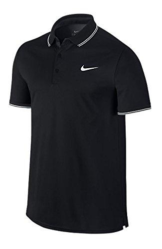 Nike Herren Poloshirt Court, Black/White, S