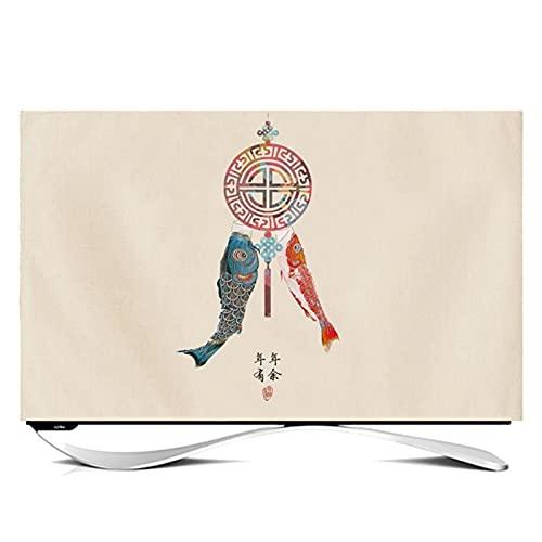 ZHAOFENGE-maotan Funda para Monitor Cubierta de TV Antipolvo Interior TV Decoración De La para Televisor de 20' - 80' LCD, LED, ó Plasma(Size:24in,Color:1#)
