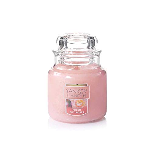 Yankee Candle Fresh Cut Roses Small Jar Candle, Floral Scent