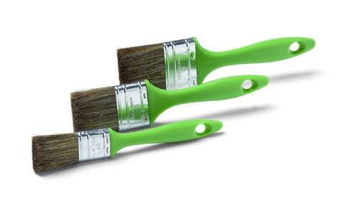 Schuller Eh\'klar Lasurpinselset Timber M 3 tlg. (30/50/60 mm), Pinsel für Lasuren und Lacke für Holzschutz ideal, Borstenmischung ist speziell für dünnflüssige Materialien abgestimmt