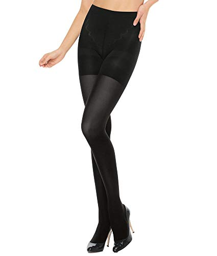 ASSETS Red Hot Label by SPANX Medium Control Tights, 5, Black