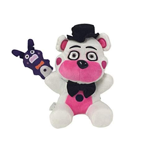 Five Nights at Freddy's Plush Toys Freddy Bear Bonnie Chica Foxy FNAF Stuffed Animal Doll Children's Gift Collection ByASfeixiang (Funtime Freddy)