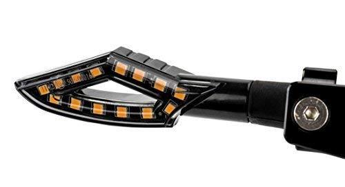 2 STK. 12V LED Motorrad Mini Blinker getöntes Glas E-geprüft
