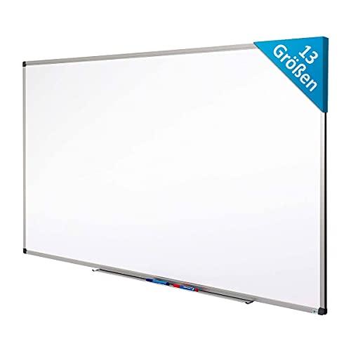 Certeo Whiteboard | Lackiert | Kratzfest & magnethaftend | HxB 100 x 150 cm | Weiß | Whiteboard Magnetisch Beschriftbar