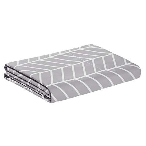 Amazon Basics - Lenzuolo di sopra in microfibra di prima qualità, 230 x 260 cm, grigio viola a zigzag