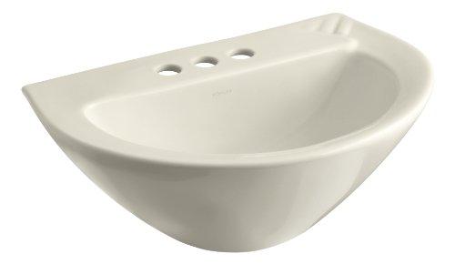 Kohler K21764AL Parigi 3-1/2-Inch Pedestal Sink Basin, Almond