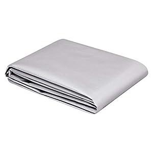 AmazonCommercial - Lona impermeable de poliéster multiusos, 1,8x2,5m, 0,4mm de espesor, plateado y negro, pack de 4unidades